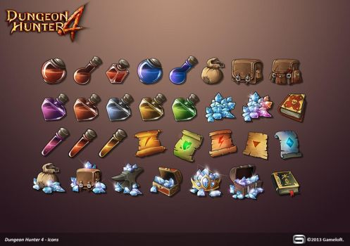 Dungeon Hunter 4 Icons by Panperkin