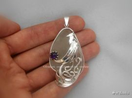 'Song of the phoenix', sterling silver pendant by seralune