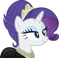 Rarity in black dress by NupieTheHero