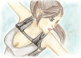 TRU Lara Croft drawing by Badty92