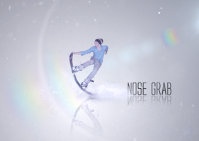 Snowboarding Nose Grab by Swpp