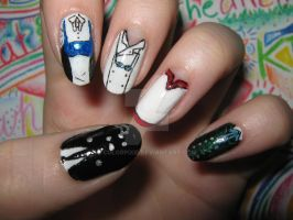 Phantomhive Residence Nails by ColorPixie