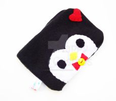 Heart Penguin Pouch by CosmiCosmos
