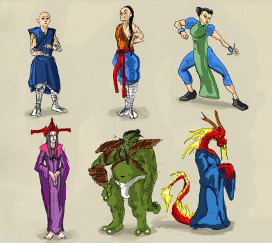 Monk Sketches Characters by 08yo8387