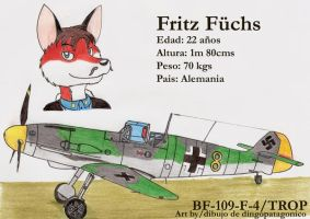 Fritz Fuchs and his BF-109 by DingoPatagonico