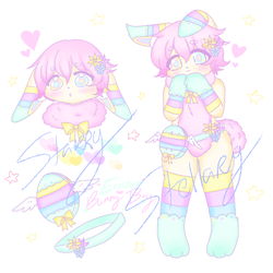 Easter Adopt - Pastel Bunny Boy CLOSED by StarryStellary