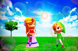 Zelda and Link chibi love by Hack-Girl