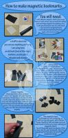 How to make magnetic bookmarks by MyntKat