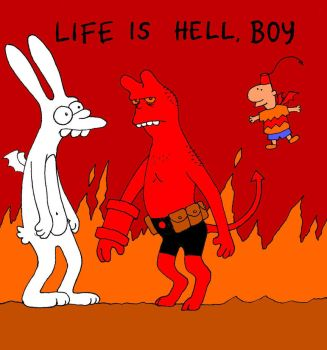 TLIID Superhero funny pages - Life is Hellboy by Nick-Perks