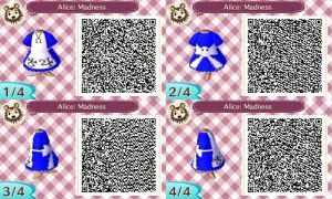 Animal Crossing: Alice Madness Returns QR Code by ClockworkEmotion