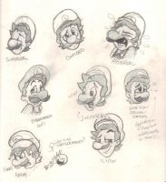 Luigi Expressions by angry-green-toast