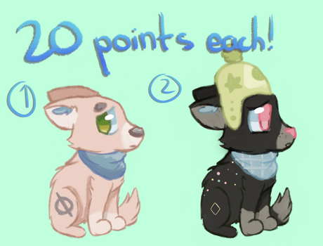 Adopts - 20 points each! by CelestialBlu