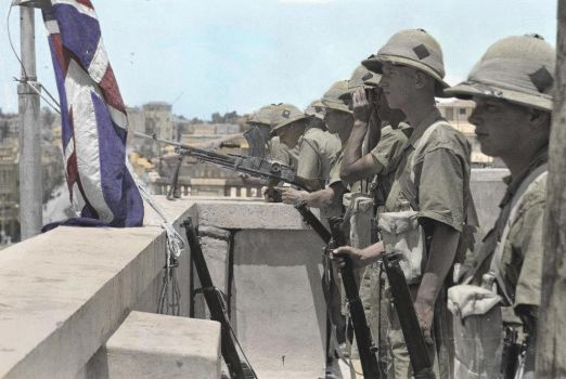 British Army in Jerusalem 1934 (colorized by me) by loris141