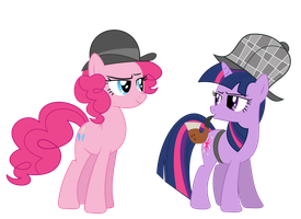 Twilight Holmes and Doctor Pie by alexiy777