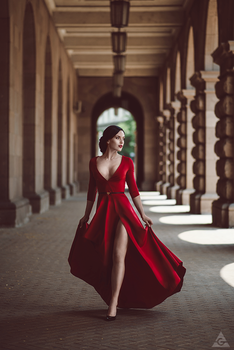 Lady in red by Tikal-SH