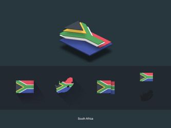 Flat Flags South Africa by capdevil13