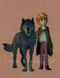 Wolf and Kid by Shadla