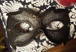 Black Leather Mask by DaraGallery