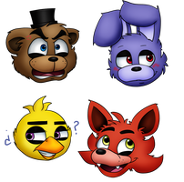 Four Emotions at Freddy's by menta-RR-66