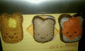 Toasty Trio Bread Magnets by Gd00dle