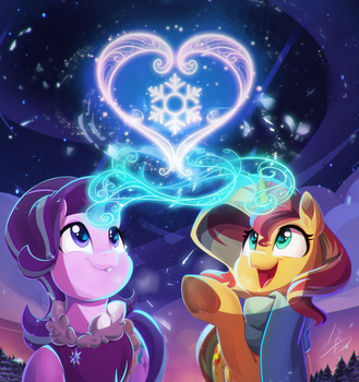 Sunset Starlight Heart Warming -  by Light by Light262