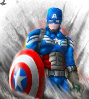 Captain America - Gift for hotrodsimpulse by Unreal-Forever