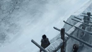Jon Snow at The Wall by Anday