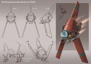 Spaceship model sheet