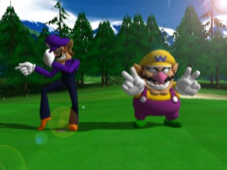 Wario and Waluigi dance by WaluigiSuicide