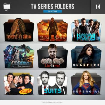 TV Series Folders - Pack 14 by limav