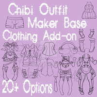 Waitress Chibi Outfit Maker Add-on! $4/400 pts by Aelliana