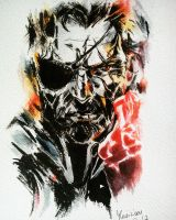 Metal Gear Solid V Ink and Watercolors - Gift by Musiriam