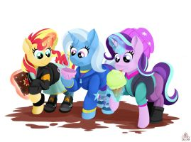 The Three Amigos by poecillia-gracilis19