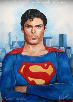 SUPERMAN - Christopher Reeve by AlenaGalayko