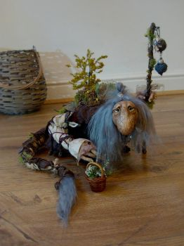 SOLD - Large Woodland Troll by FaunleyFae
