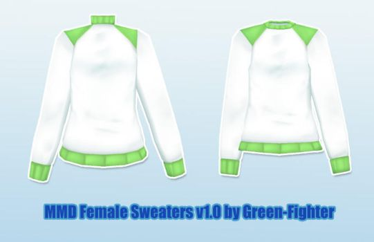 MMD Female Sweaters+DL by Sefina-NZ