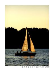 'SUNSET' sailboat by DiTommi