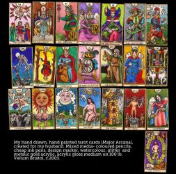 Handmade Tarot by QuicheLoraine