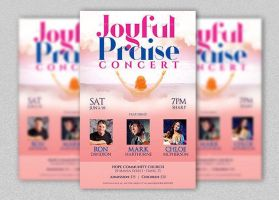 Joyful Praise Concert Flyer and Poster Template by Godserv