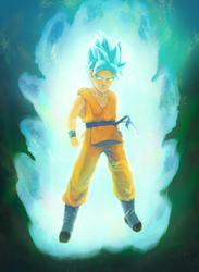 Son Goku Blue by Hyperlon