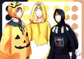 BTS Halloween 2015- Jin, RM, and Jhope by IsoChi