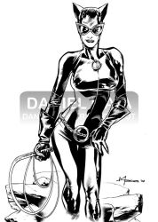 Catwoman 2008 ink by daniel-maia