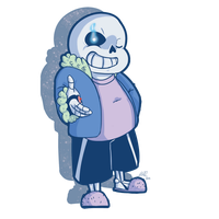Sans (Turn around, kid.) by brittninja