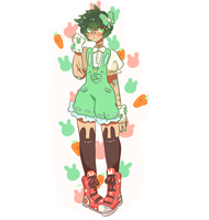 Pastel Deku [sticker] by gh0stbun