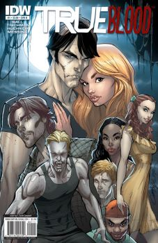 True Blood cover 1 Color by J-Scott-Campbell