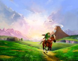 OoT 3D ArtWork HD V2 by Link-LeoB