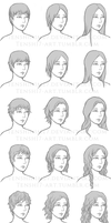 Hair with varying textures and lengts - Reference by TenshiHime7