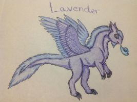 Lavender the Fluffdragon by RainbowGuppy1