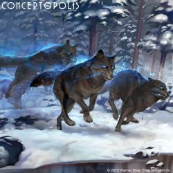 Enchanted Dire Wolf by Conceptopolis