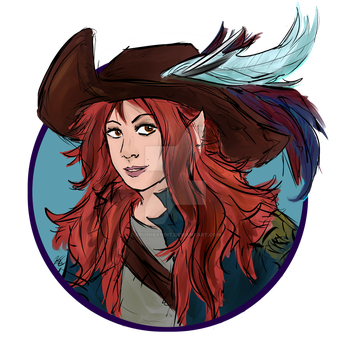 FAMOUS ELVEN DUELIST IEDRA ZUL icon by BrushBandit